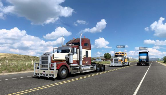 A multiplayer session in American Truck Simulator