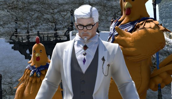 Final Fantasy XIV's Colonel Sanders is ready to serve you chicken