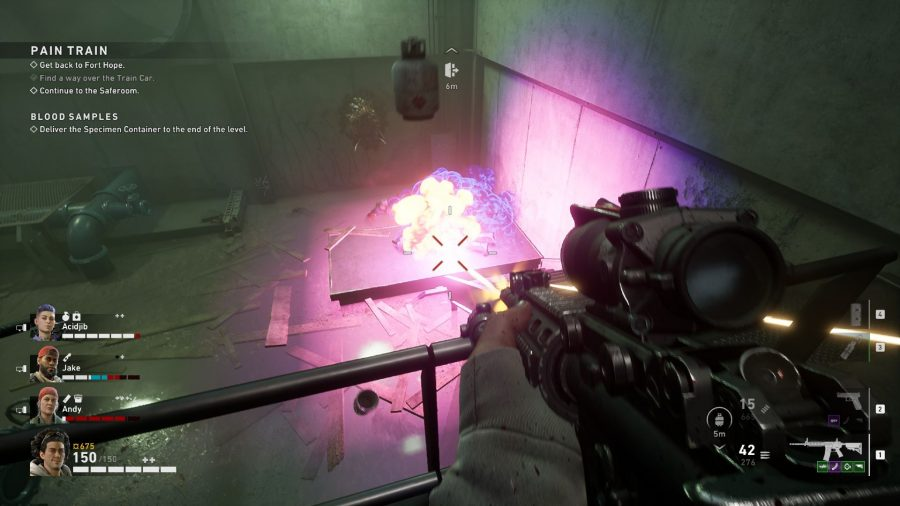 Shooting a fuel canister in Back 4 Blood
