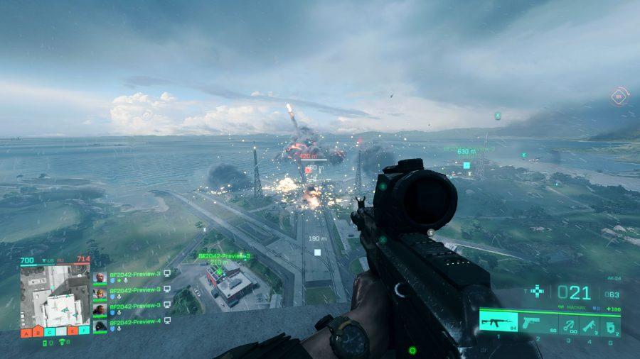 Watching the rocket on Battlefield 2042's Orbital map explode