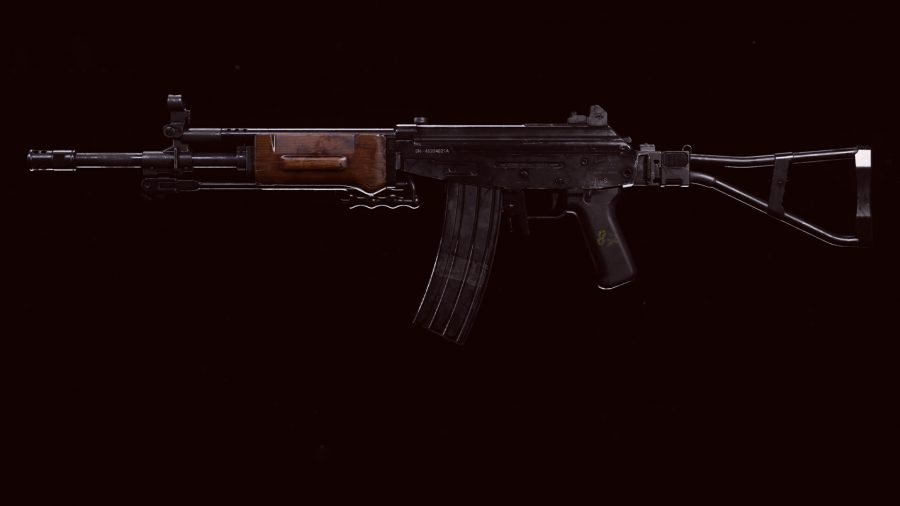 The Grav assault rifle in Call of Duty Warzone's preview menu