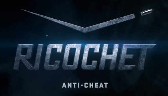 The stylized logo for Call of Duty's new Ricochet Anti-Cheat system