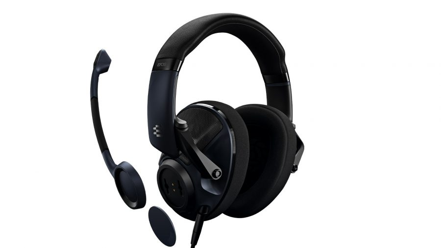 EPOS H6Pro headset with mic detached on white backdrop