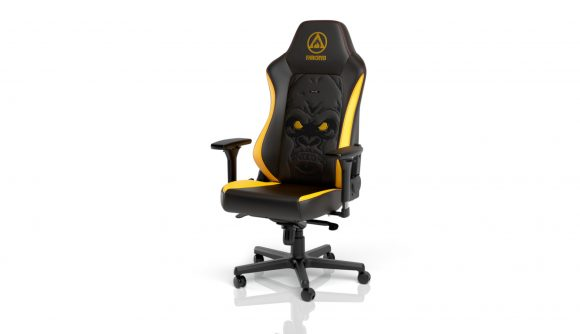 The Far Cry 6 Special Edition gaming chair against a white background
