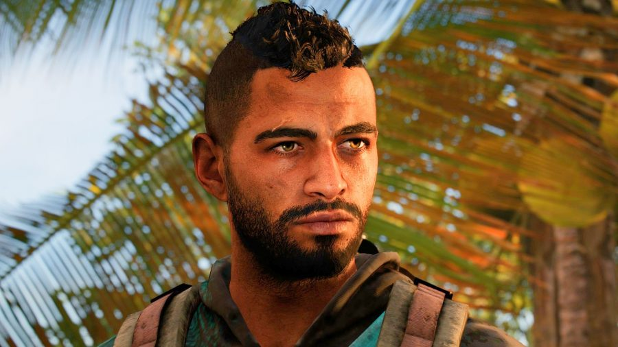 Far Cry 6's Dani Rojas looking moody in our Far Cry 6 review