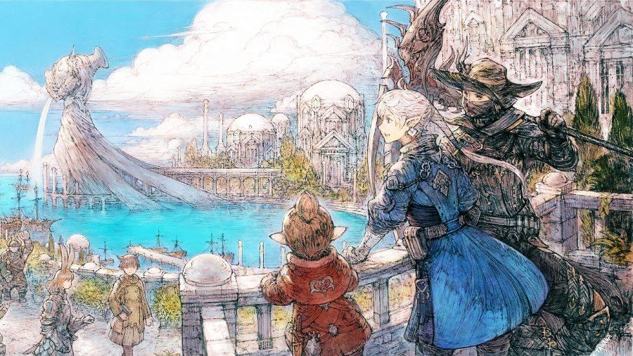 Illustrated art showing FFXIV's Reaper job