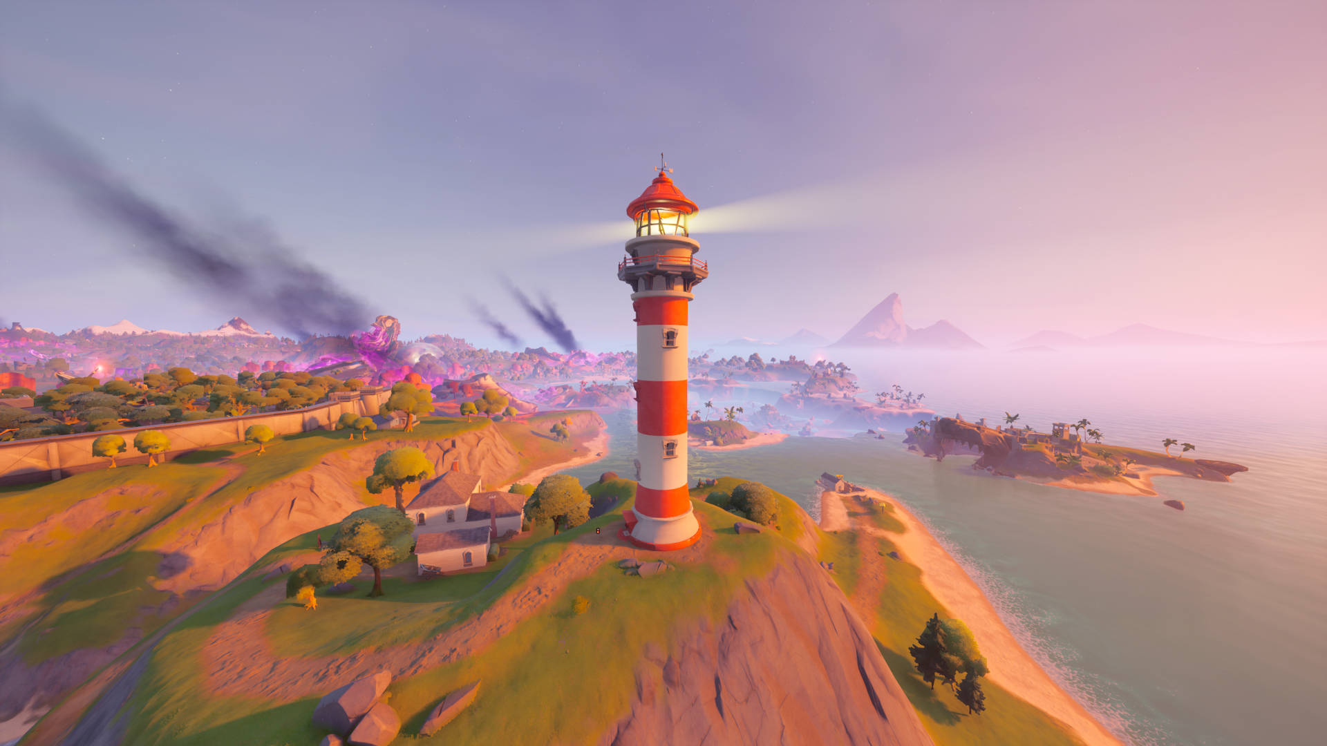Fortnite weather station, Fort Crumpet, and Lockie's Lighthouse locations