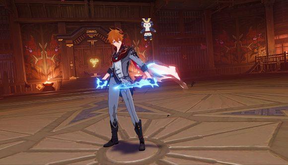 Genshin Impact's Childe draws his bow
