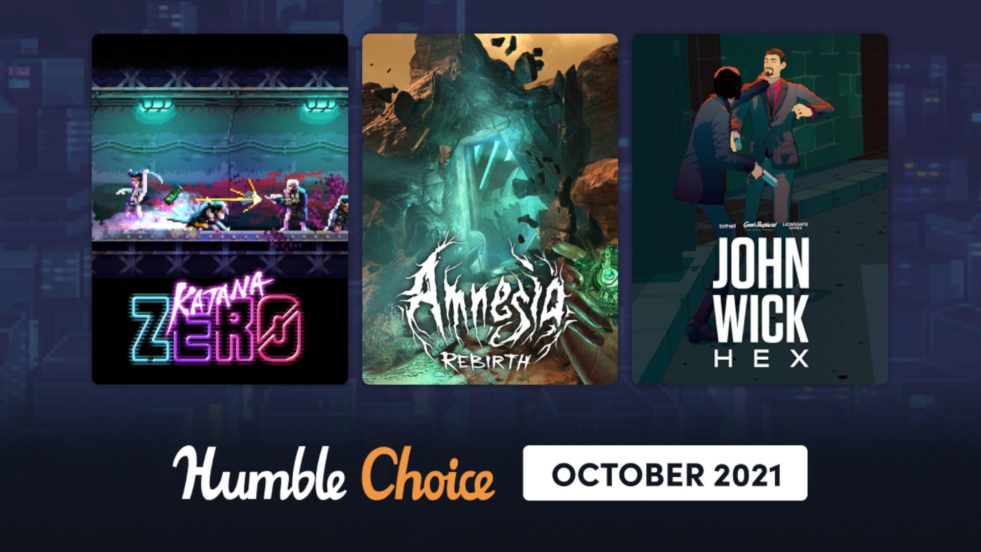 Katana Zero, Amnesia: Rebirth, and John Wick Hex in this month's Humble Choice bundle