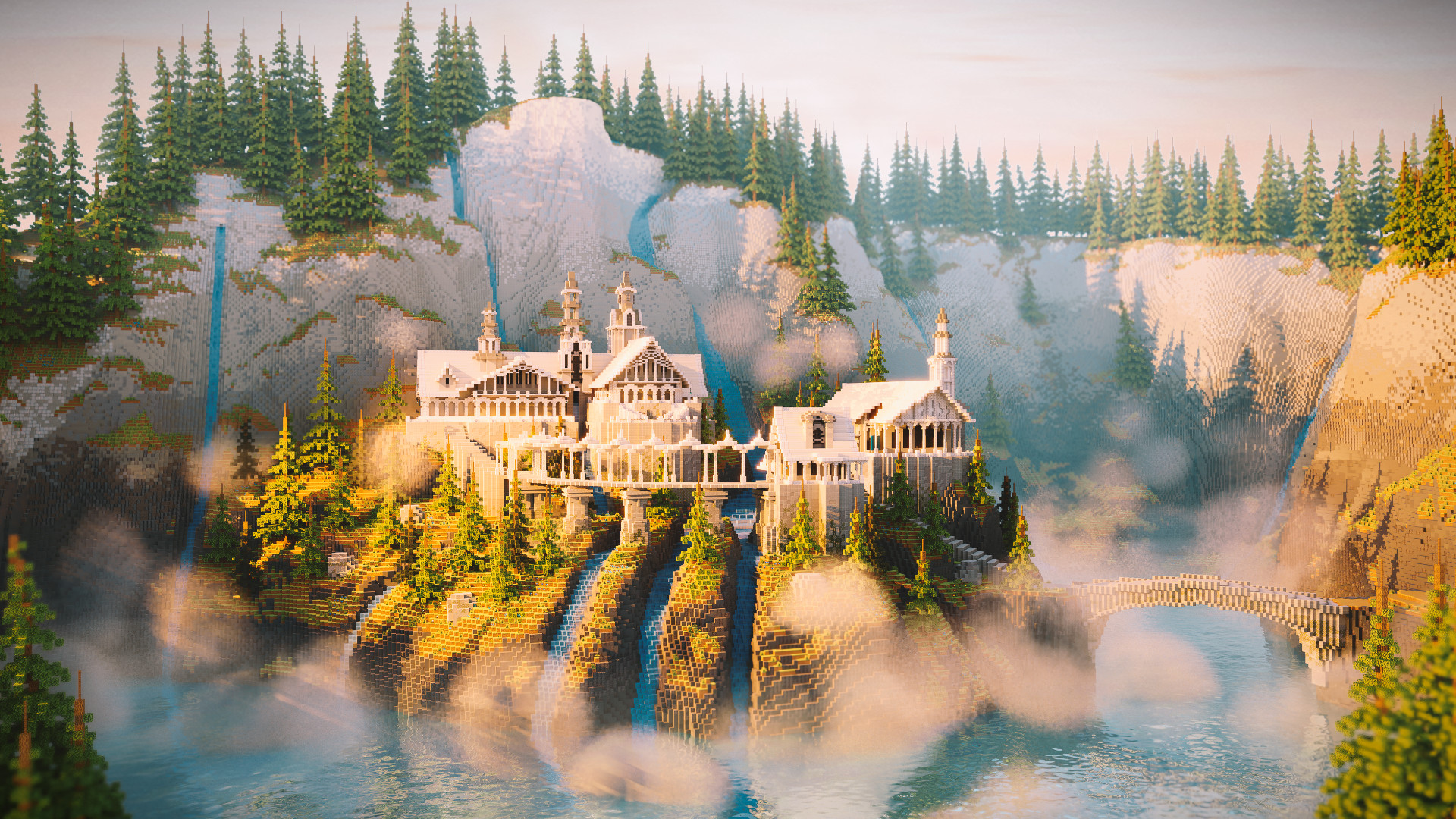 Minecraft player spends weeks recreating Rivendell from Lord of the Rings