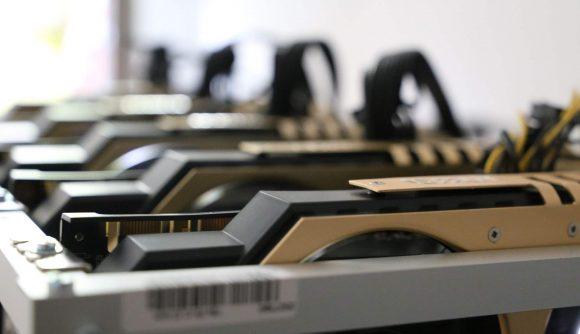 A rack of GPUs
