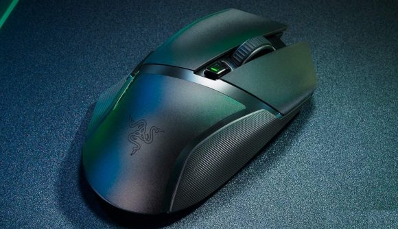 A top down view of the Razer Basilisk X HyperSpeed