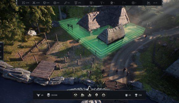 Placing a building in Robin Hood: Sherwood Builders