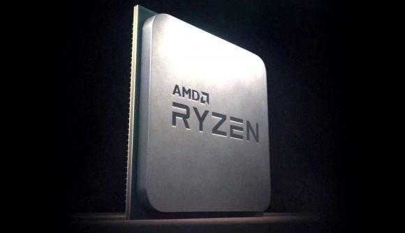 A 3D render of an AMD Ryzen CPU