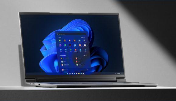 A gaming laptop running Windows 11