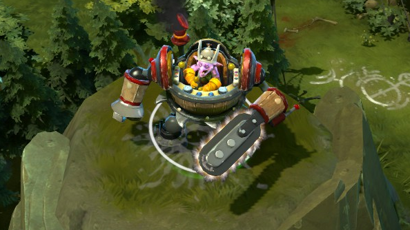 Dota 2 patch adds Timbersaw to the roster alongside hints that Bastion's narrator will appear as announcer
