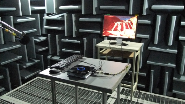 Anechoic chamber acoustic testing