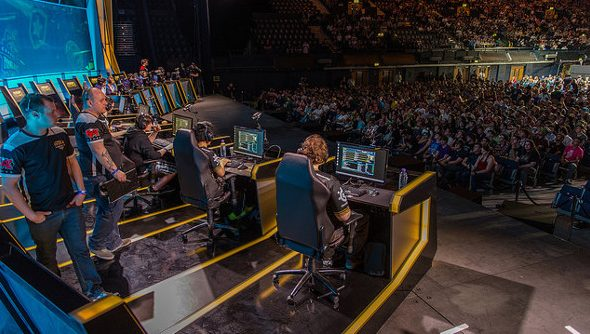 The crowd for EU LCS at Wembley.