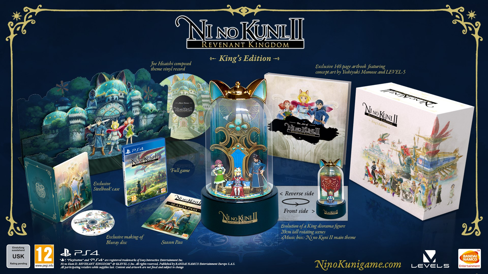 Here's what you'll get in the UK Ni no Kuni 2 PC special edition