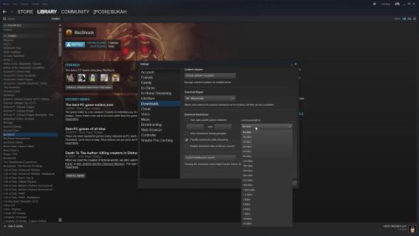 Steam download speeds