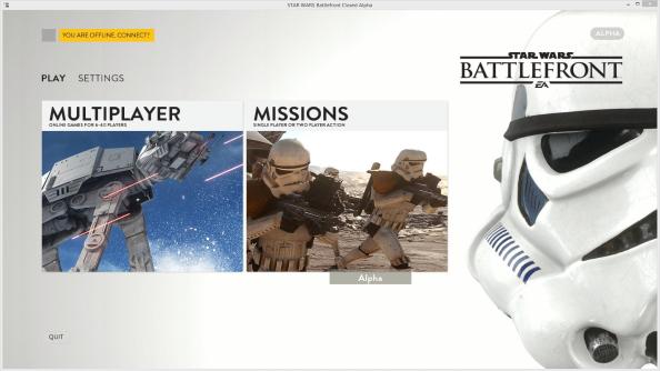 Star Wars Battlefront Alpha Client Menu Leaked
