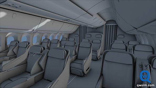 Take a ride in the currently grounded 787 Dreamliner in FlightSim X