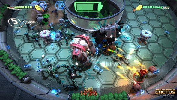 A colorful screenshot from Assault Android Cactus