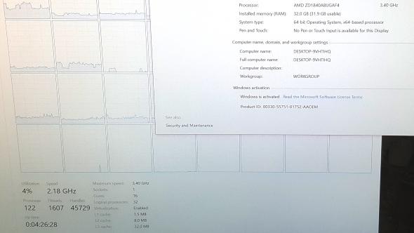 AMD Ryzen Threadripper engineering sample specs