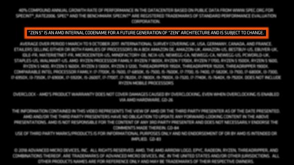AMD Zen 5 notes highlight