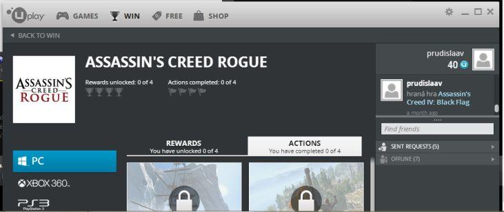 Assassin's Creed Rogue Uplay Reward