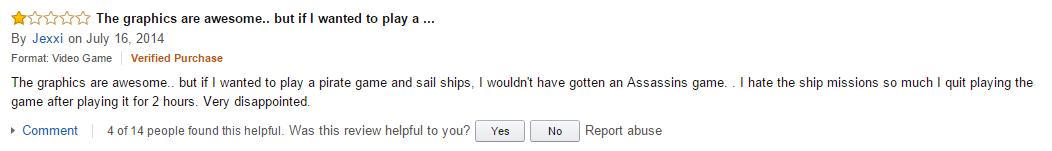 User reviews Assassin's Creed Black Flag