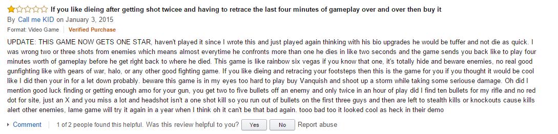 User reviews Deus Ex Human Revolution