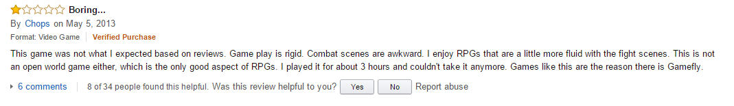 User reviews Dishonored