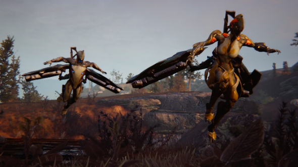You can use Warframe's archwings to soar above its open world