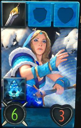 Artifact Crystal Maiden hero card