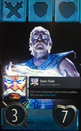 Artifact Zeus hero card