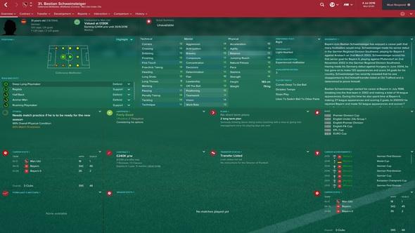 Football Manager 2017 Bastian Schweinsteiger