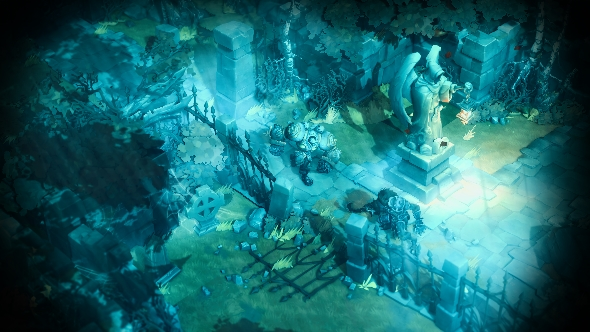 Battle Chasers: Nightwar graveyard