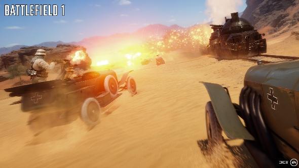 Battlefield 1 desert train