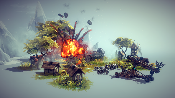 Besiege is all about destroying peoples lives with massive siege engines