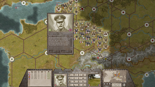 The best wargames on pc pcgamesn a portrait of haig as he is deployed to the western front on a hexagonal map gumiabroncs Gallery