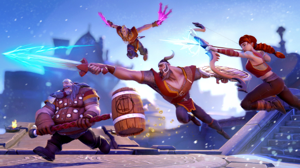 Bierzerkers is a multiplayer arena game full of drunk, dead Vikings