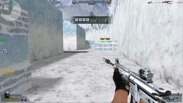 Blood Strike Latino gameplay. Any similarities to fan-made CS map FY_IceWorld are purely coincidental, we're sure.