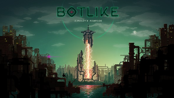 The robotic roguelike Botlike has players toppling a totalitarian regime as a surly warbot