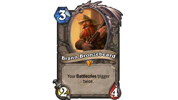 Best Hearthstone Legendary cards Brann Bronzebeard