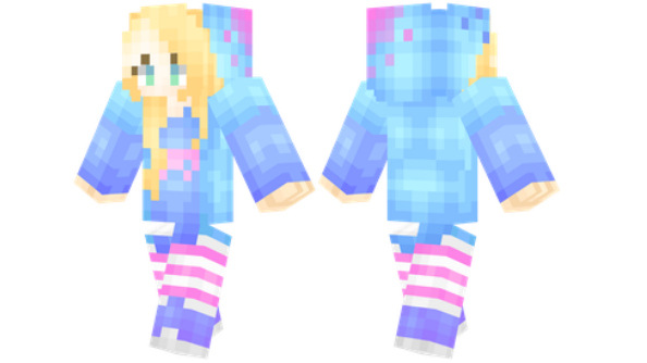 best minecraft skins Bright Girl