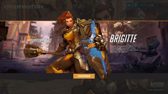 Brigitte Overwatch splash screen