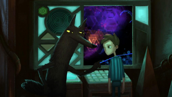Broken Age Wolf and Shay