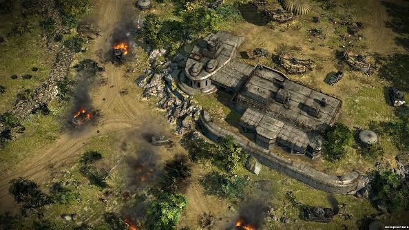A huge bunker in Blitzkrieg 3