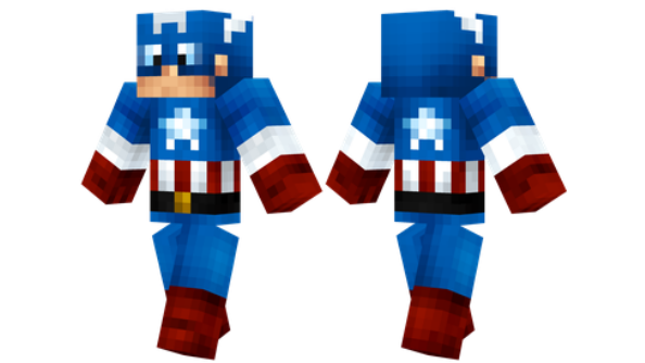 best minecraft skins Captain America